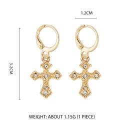 Дикие и свободные серьги-кольца в форме звезды для женщин, золотые медали, крест, маленькие глаза, крошечные обручи Huggie, серьги, стразы, минималистичное ювелирное изделие - Окраска металла: Style 6