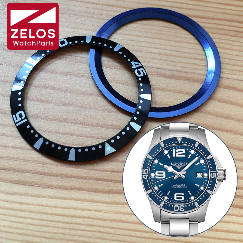 Aluminium Watch Bezel Inserts For Long Ines HydroConquest Automatic 39mm Mens Watch