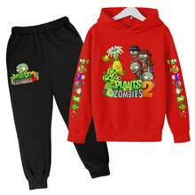 Children's 2021 New Spring Clothing Plants Vs Zombies Boys and Girls Sweater Hoodie Children and Teens Long Sleeves Pullover