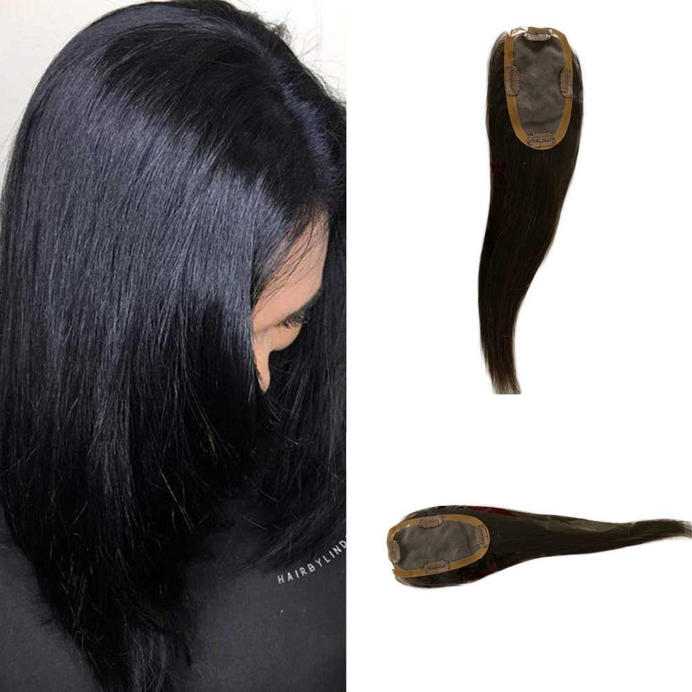 BYMC corrector de pérdida de cabello humano aumenta el volumen del cabello instantáneamente Invisible Real Remy cabello humano base de seda para las mujeres Clip