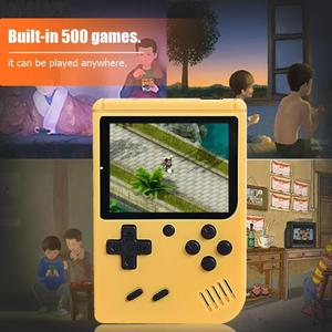 Image 5 - RS 50 Video Game Console Built in 500 Games Handheld Game Console Retro Tetris Nostalgic Gaming Player Best Gift for Child