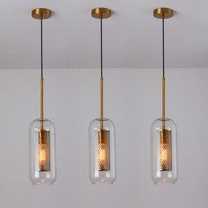 Image 4 - Loft nowoczesna lampa wisząca szklana kula lampa wisząca oświetlenie kuchni oprawa jadalnia Hanglamp salon oprawa