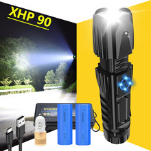 Super brillante XHP90.2 LED linterna XLamp táctica impermeable antorcha inteligente chip control con cono de ataque inferior recargable por USB(China)
