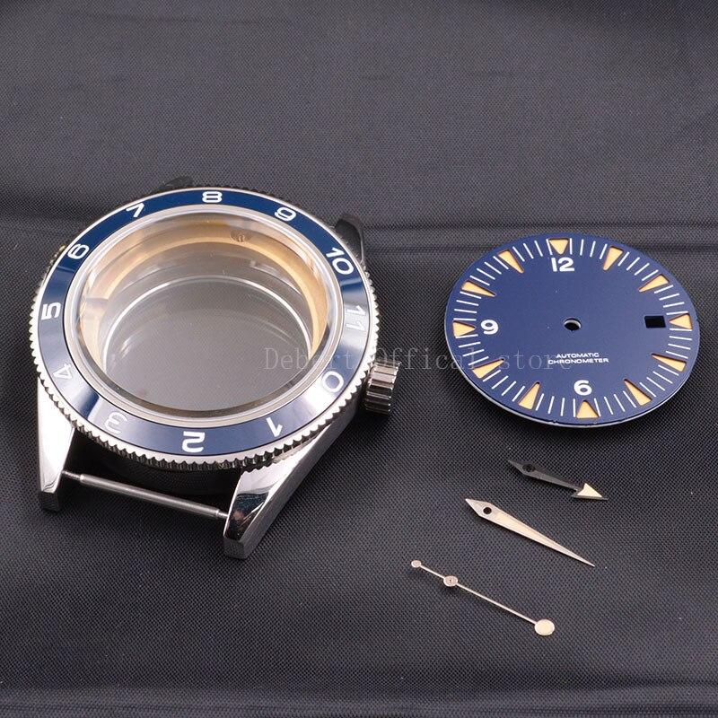 41mm Ceramic Bezel Men's316 SS Watch Case dial hands fit Miyota 8205/8215,ETA 2836,DG2813/3804 mechanical Wristwatch waterproof