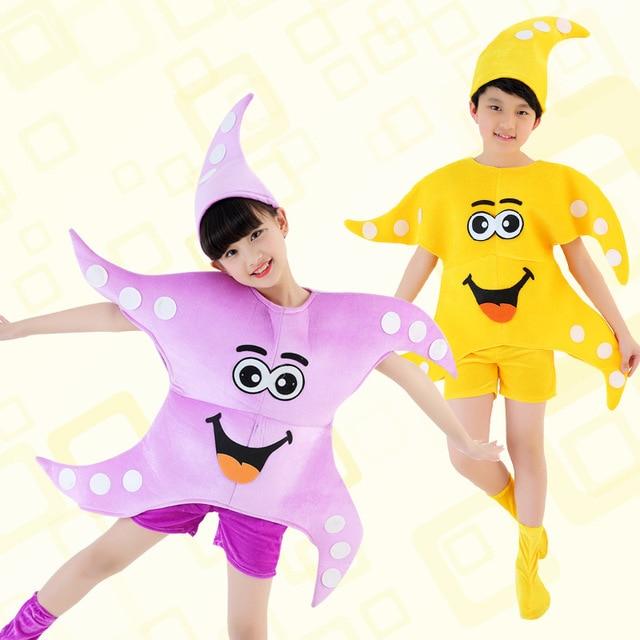 الاطفال هالوين حفلة عيد ميلاد تأثيري نجم البحر ستار زي الأطفال الرقص الملابس الملابس للبنين بنات