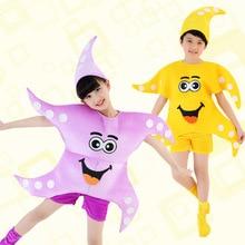 Bambini di halloween di compleanno del partito di cosplay stella di mare stella bambini costume di ballo vestiti di vestiti per le ragazze dei ragazzi