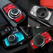 For BMW 1 2 3 4 5 6 7 Series X1 X3 X4 X5 X6 F10 F30 F15 F16 5pcs Aluminium Alloy iDrive Center Multimedia Buttons Cover Trim