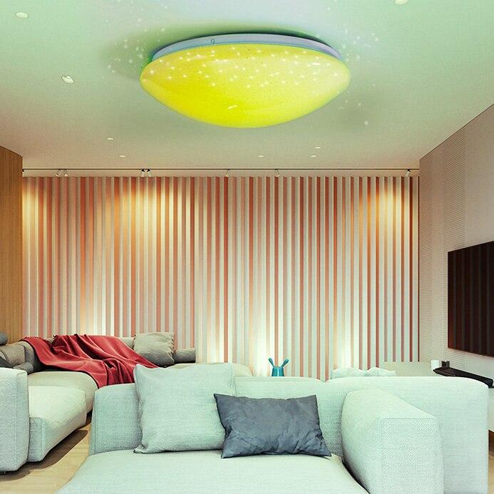 Luz de teto colorida com controle remoto,