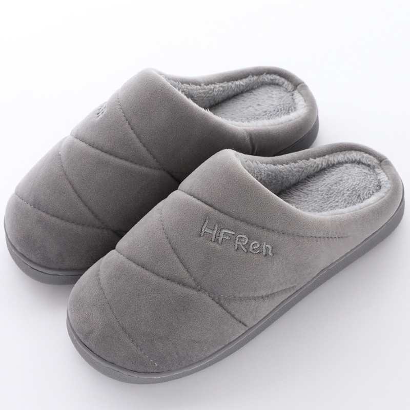 Women's Slippers For Home Large Size 43-47 Suede Non Slip Winter Slippers Women Rubber Solid Soft Indoor Shoes Girls