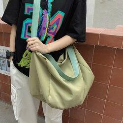 Tassen Voor Vrouwen 2020 Nylon Canvas Tote Schoudertas Opvouwbare Herbruikbare Boodschappentassen Strand Handtas Vrouwelijke Katoenen Doek Handtassen