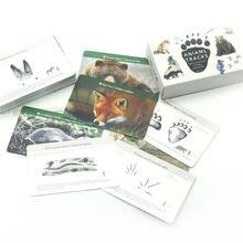Материалы Монтессори животные следы Обучающие игрушки обучающие