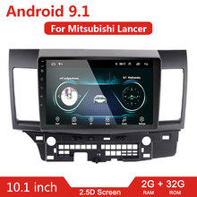 10 Inch 2 DIN Mobil Android 9.1 Mobil Pemutar Video Multimedia untuk Mitsubishi Lancer 2008-2016 2din Radio GPS navigasi Audio Stereo(China)