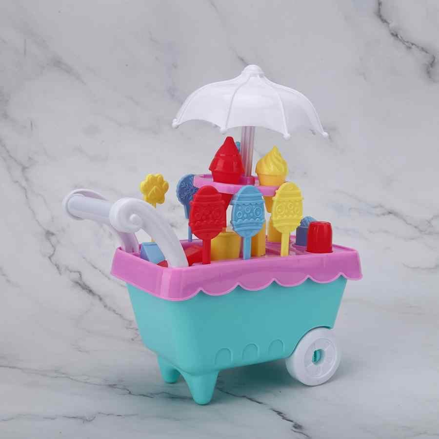Fingir jogar brinquedos simulação mini sorvete doces carrinho fingir jogar conjunto educacional supermercado carrinhos de compras brinquedos presentes