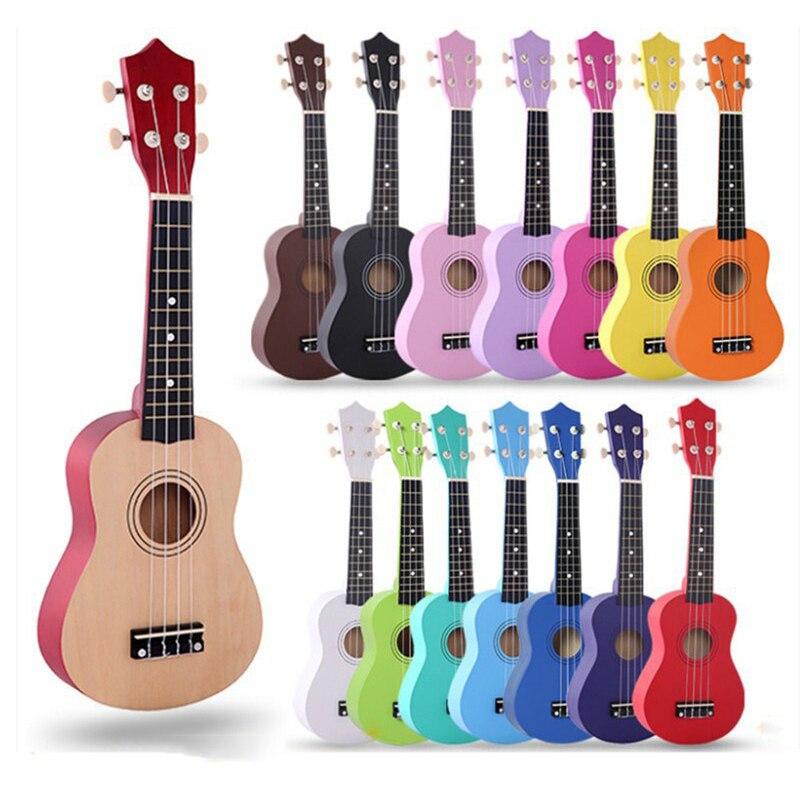 21 Inch Ukulele 4 Strings Uke Hawaii Bass Colorful Acoustic Ukulele Guitar For Beginners Or Basic Players Musical Instruments