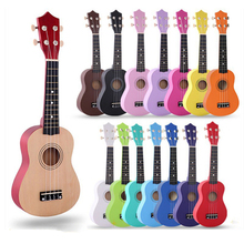21 inch Ukulele 4 Strings Uke Hawaii Bass Colorful Acoustic Ukulele Guitar for beginners or Basic players Musical Instruments gorilla tips by im fingertip protector cover in clear blue pain relier for guitar bass ukulele players string finger guards