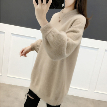 Ailegogo Women Sweater Spring Autumn Casual O Neck Knitted Pullovers Korean Style Long Sleeve Knitwear Female Tops 5