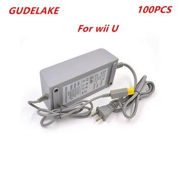 100pcs EU/US Plug AC Power Supply Adapter 15V 5A Power Charging Converter Docking Station for Nintend Wii U Game Console eu us plug 100 240v dc 15v 5a home wall power supply ac charger adapter cable for nintendo wii game console host
