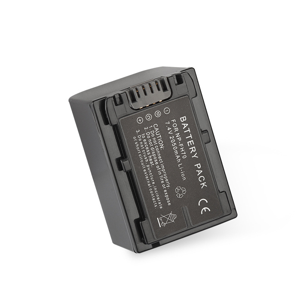 NP-FH70 Digital Camera Battery (2050mAh, 7.4V, Lithium-Ion)-Compatible with <font><b>Sony</b></font> HDR-XR550/E,HDR-<font><b>CX110</b></font>, HDR-CX150,HDR-HC3 image