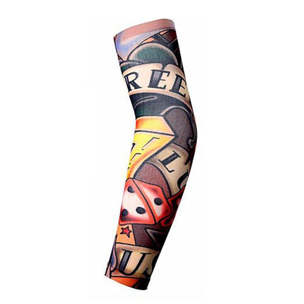Trendy Men Women Tattoo Sleeve New High Elastic Fake Temporary Designs Summer Sunscreen Body Arm Warmers