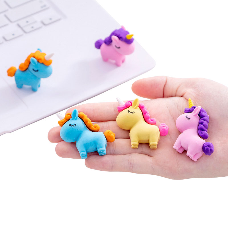 Cartoon Unicorn Rubber Pencil Eraser Student Stationery Art Painting Drawing Novelty 4B Papelaria Gift School Supplies|Eraser|   - AliExpress