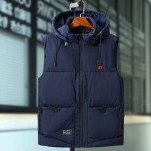 PLUS ขนาด 9XL Mens แจ็คเก็ตฤดูหนาวสบายๆหนาเสื้อผู้ชาย Hoodie Coats ชายอุ่น Slim Waistcoat