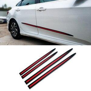 Image 1 - 4 adet evrensel tam siyah araba gövde/yan kapı anti çarpışma Anti scratch dekorasyon koruyucu yapışkan şerit araba Sticker