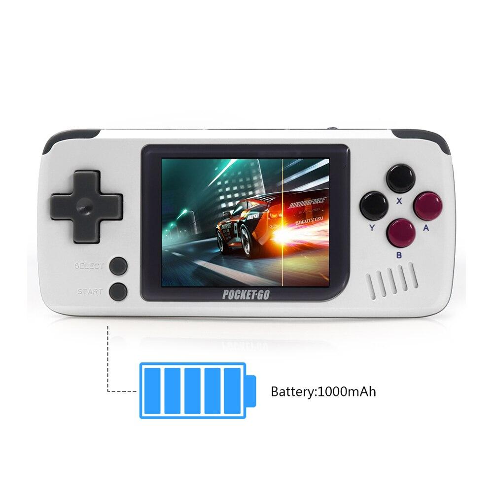 Consola de juegos, PocketGo, consola de videojuegos Retro de mano, pantalla de 2,4 pulgadas portátil para niños jugadores de juegos con tarjeta de memoria - 6