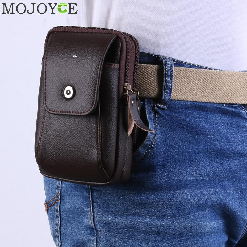 Multi-Function Men Wallet Fashion PU Leather Zipper Purse Belt Bag Casual Flap Card Clutch Holder Male Phone Pouch