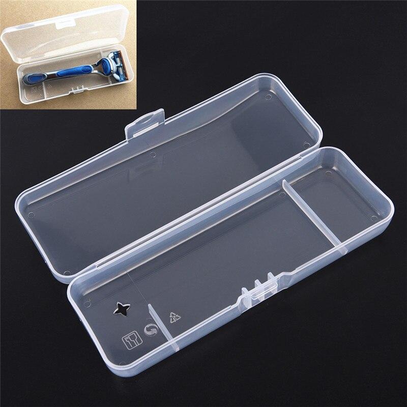 1pc Plastic Razor Box Travel Case Universal Toolholder Manual Shaving Razor Cartridge Box Storage Box High Quality