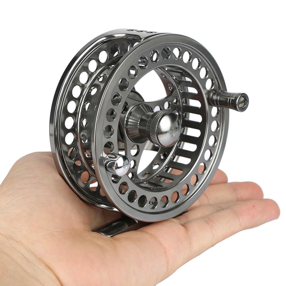 Goture voar carretel de pesca 3/4 5/6 7/8 9/10 wt 2 + 1bb cnc-usinado para a esquerda/direita grande caramanchão voar roda de reposição carretel de pesca equipamento