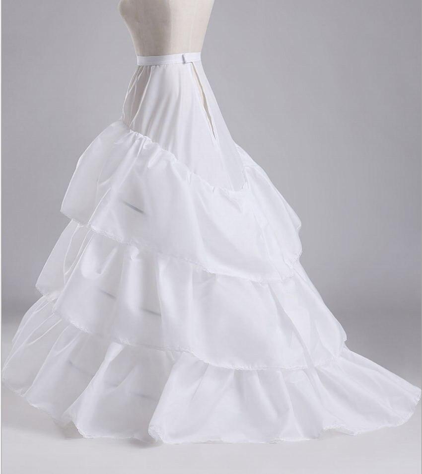 White Wedding Petticoats 3 Layers Cheap Women Underskirt Jupon Crinoline Vestido Longo Sottogonna 20195
