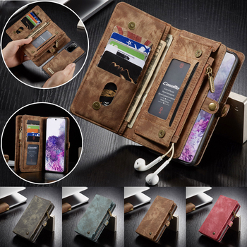 Leather Wallet Case for Samsung S20 Ultra S10 S9 S8 Plus S7 Edge Note 20 10 8 9 A20 A30 A40 A50 A70 A51 A71 A21S Cover Cases