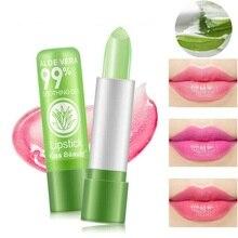 Womens Lipstick Lip Balm Aloe Vera Moisturizing Color Changing Long Lasting Lips Care Fashion Makeup Lipbalm