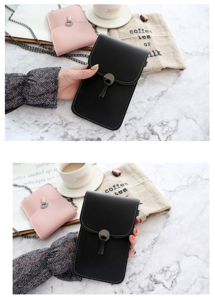 Leather Shoulder Strap Handbag Women Bag for Iphone X Samsung S10 Huawei P20Touch Screen Cell Phone Purse Smartphone Wallet