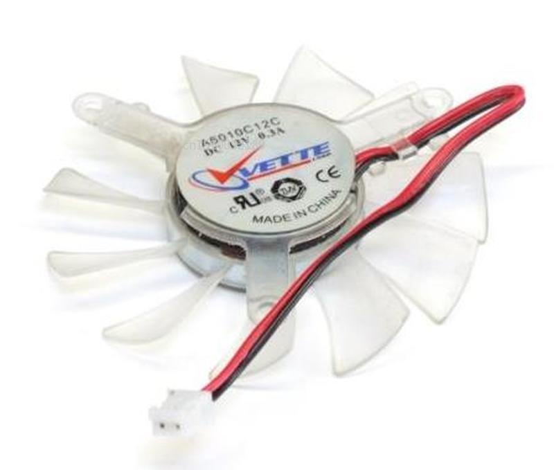 For Vette A6010C12C DC12V 0.3A 5510 5CM 55mm 55X55X10mm 3Pin 3Wire Graphics Cooling Fan Free Shipping