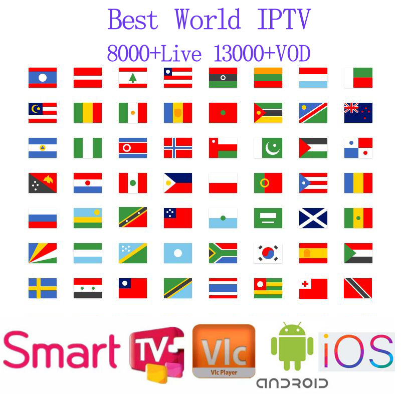 1 Year Europe Italy Germany portugal IPTV Susbcription m3u 8000+Live 13000+VOD Support for multiple devices at same time