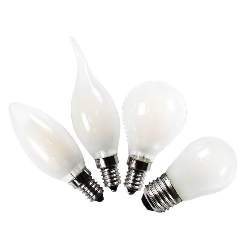 LED Light Bulb Frosted 2w 4w 6w 8w E27 E14 B22 E12 E26 Flame Candle Ampoule 110v 220v Warm White G45 C35 Lamp