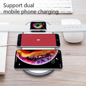 Image 4 - Eksprad 3 In 1 Draadloze Oplader 10W Snel Opladen Pad Voor Iphone 11 Pro X Xs Xr 8 Voor apple Horloge 5 4 3 Airpods 2 Pro Laders