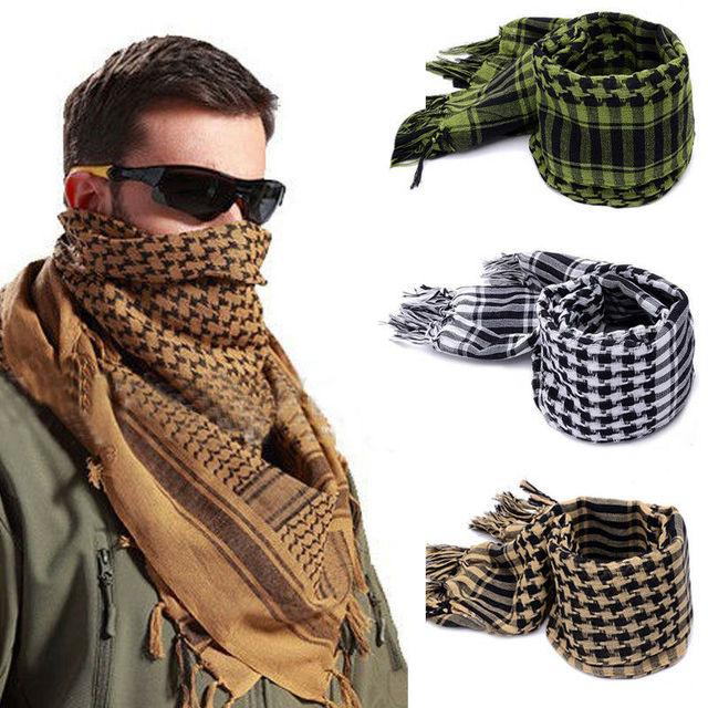 Fashion Mens Lightweight Square Outdoor Shawl Military Arab Tactical Desert Army Shemagh KeffIyeh Arafat Scarf Fashion 5
