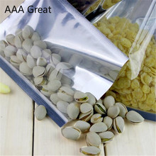 AAA Great 100Pcs/Lot Open Top Silver Aluminium Foil Clear Plastic Packaging Bags Heat Seal Vacuum Pouches Bag Food Storage Pack