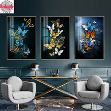 Butterfly art Diamond Painting Full Square/Round Drill Blackboard 3pcs decoration 5D Daimond Embroidery Cross Stitch Mosaic icon