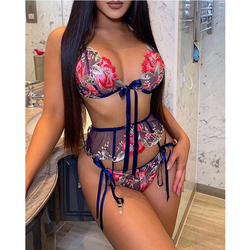 Sexy Lingerie Women Embroidery Lace Bralette Push Up Wireless Bra Mujer Seamless Underwear Backless See-through Mes Nightwear