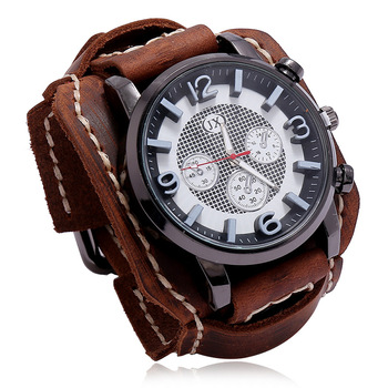 Jessingshow 2020 New Retro Mens Watches Leather Chronograph Sport Fashion Punk Style Quartz Watch For Men Relogio Masculino quartz leather band watch stainless steel men s watches retro bossy bracelet punk style casual timepiece gifts for men