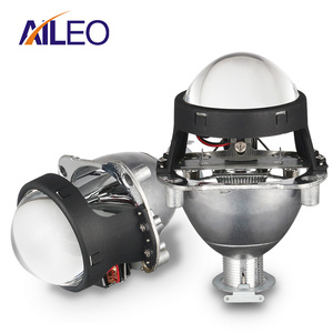AILEO 2.5 inch bi xenon Projector lens with DRL LED angel eyes shrouds 9005 HB3 9006 HB4 H4 H7 xenon motorcycle Car Headlights