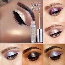 Liquid Glitter Eye Shadow 12 Colors Shimmer Eyeshadow Waterproof Long Lasting Sparkly Metallic Eyeshadow Eye Makeup Cosmetic