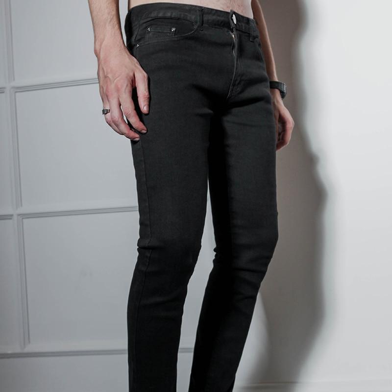 Oversized Stretch Black Jeans Slim Slim Cotton Pencil Pants Chaps Winter Boot Pants