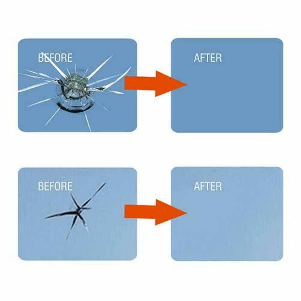車のフロントガラス修理ツール DIY 窓修理ツールウインドスクリーンガラススクラッチクラック復元ウィンドウ画面車の修理樹脂液!