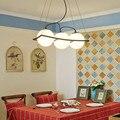 Современные светодиодные люстры гостиная подвесной светильник Лофт светильники скандинавские обеденная освещение подвесной стеклянный ш...