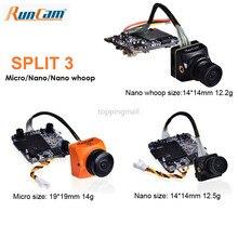 RunCam Split 3 Micro i Split 3 Nano DC5 20V 1080P/60fps nagrywanie HD i kamera WDR FPV PAL/NTSC przełączane 40ms krótki czas oczekiwania na RC