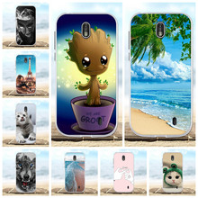 все цены на For Nokia 1 Protective Case Ultra Slim Soft TPU Silicone For Nokia 1 Phone Cover Cute Cartoon Patterned For Nokia 1 Shell Capa